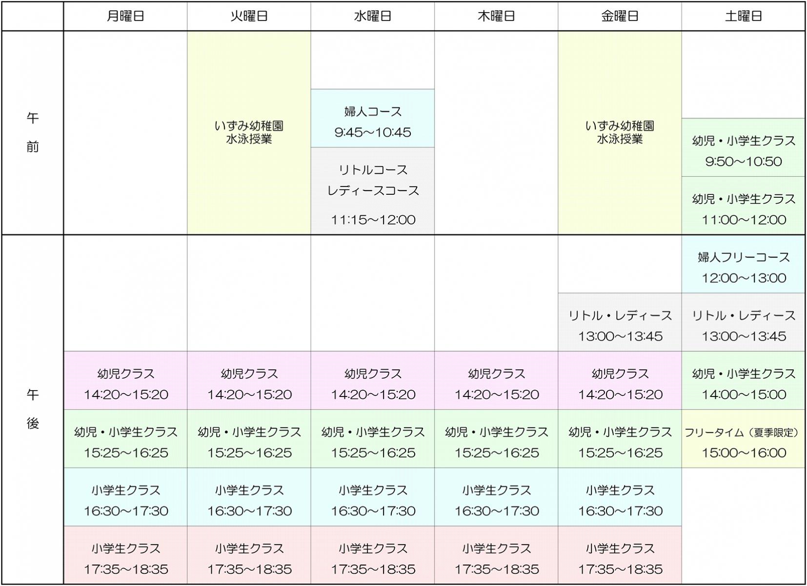 いずみss コース表